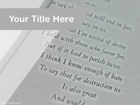 Free Poetry PPT Template