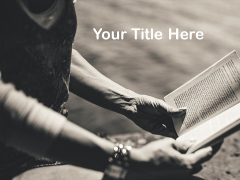 Free Reading A Book PPT Template