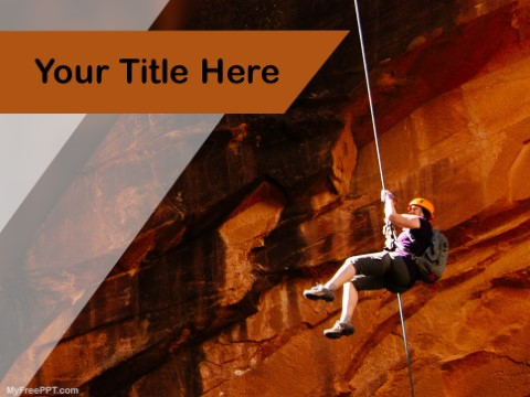 Free Rock Climbing PPT Template