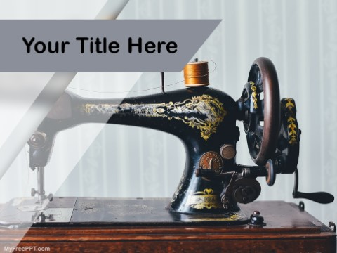 Free Sewing As Hobby PPT Template