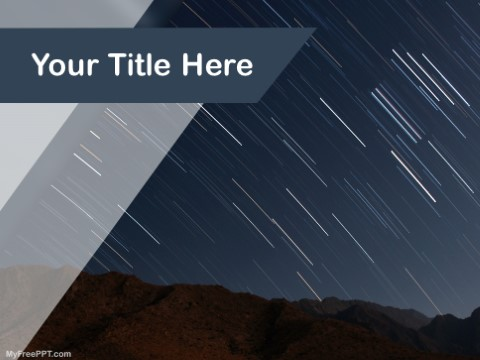 Free Shooting Star PPT Template