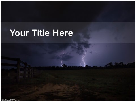 Free Thunder Lightning PPT Template