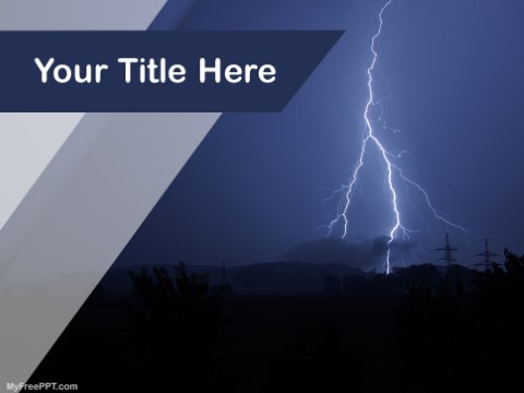 Free Thunder PPT Template