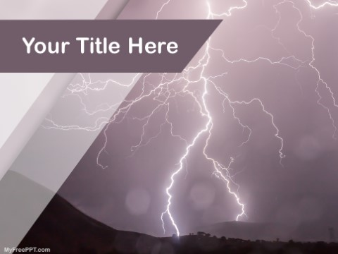 Free Thunderstorm PPT Template