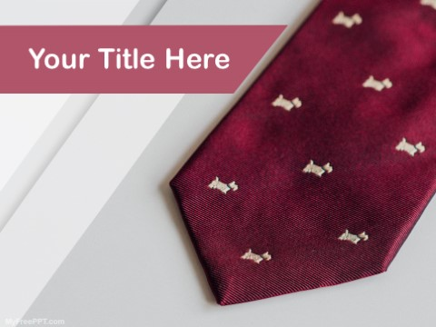 Free Tie PPT Template