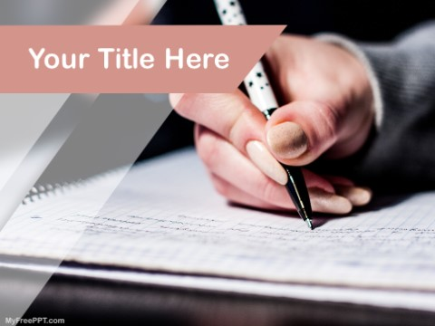 Free Writing PPT Template