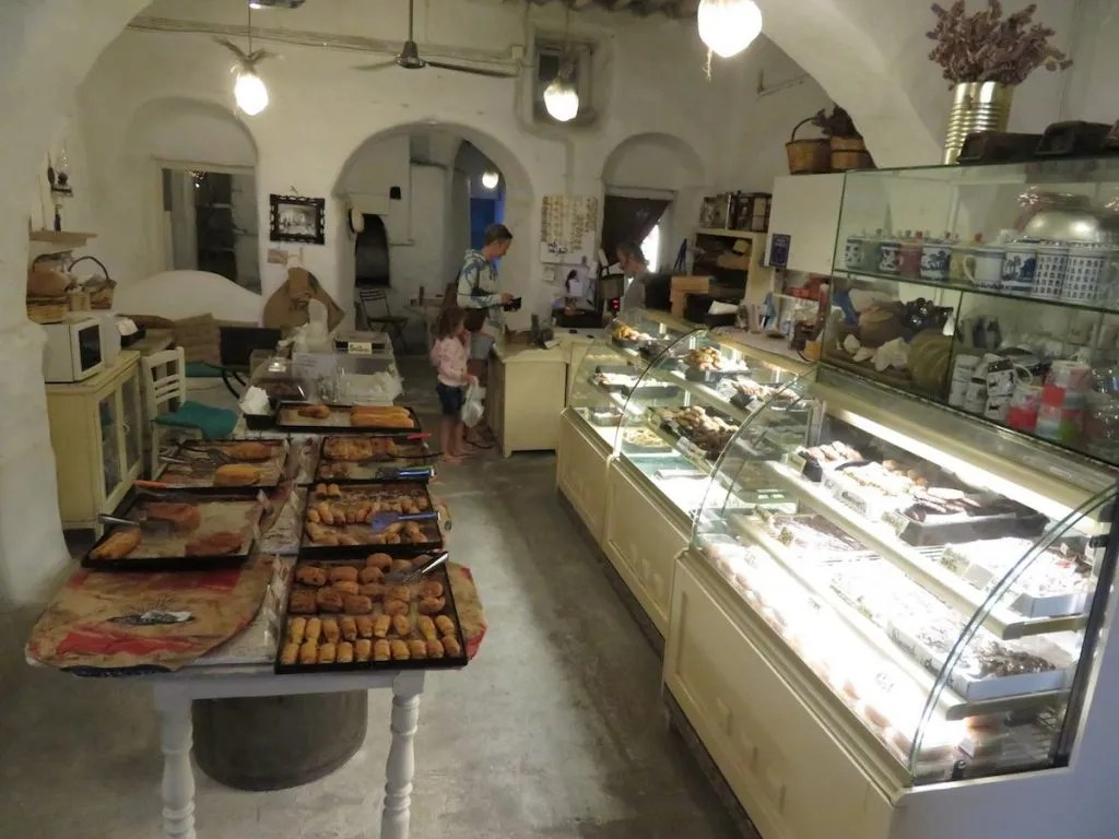 Baklava and pastry cafe in Greece