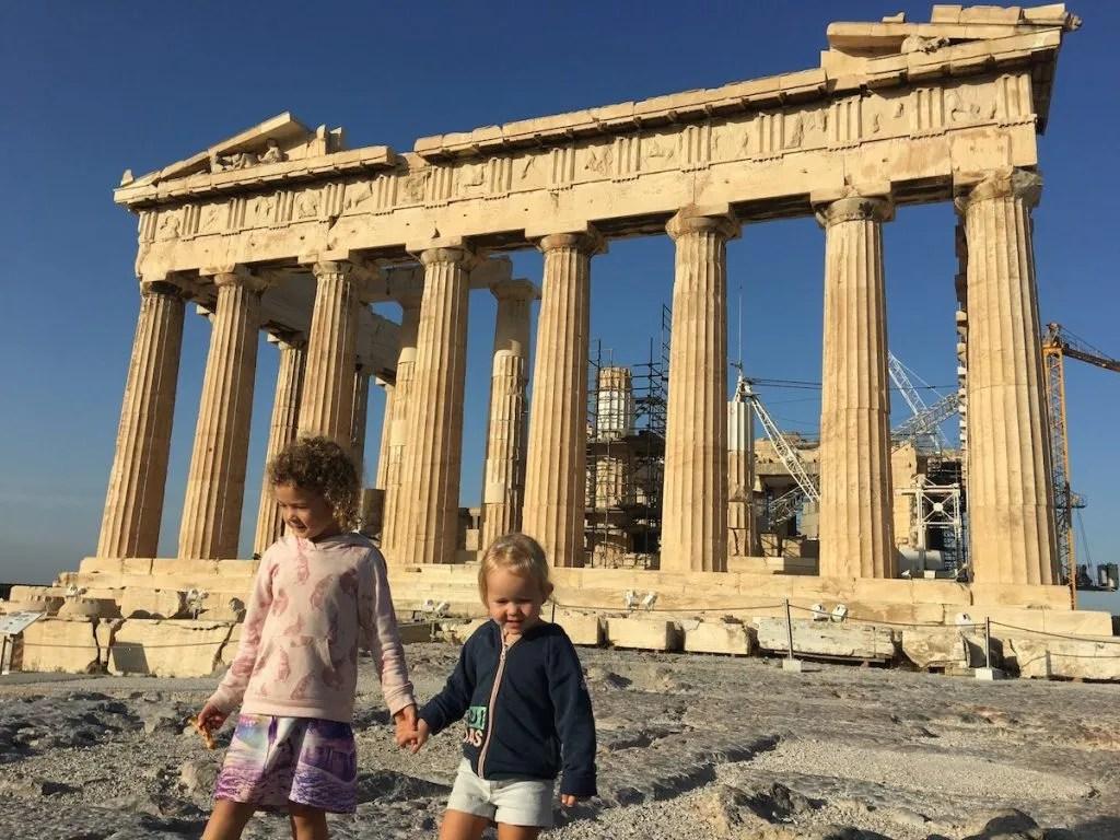 The Parthenon at the Acropolis in Athens