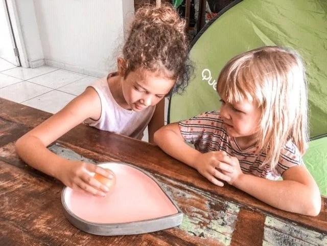preschool experiments, bouncy egg