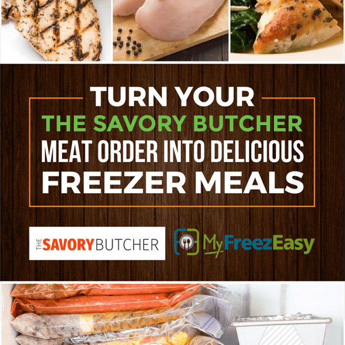 Savory Butcher: Save money on meat for your freezer meals by buying in bulk!