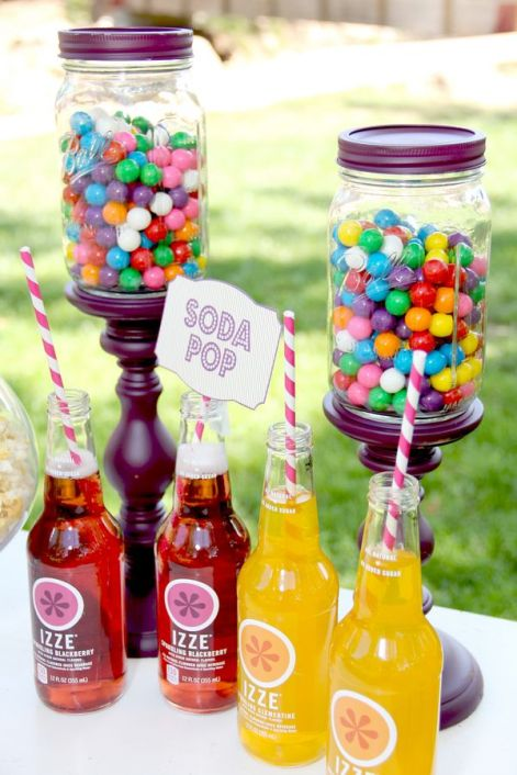 Birthday-Circus Party-Colorful Candy & Drinks