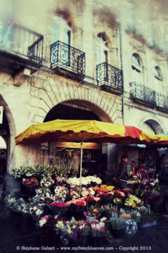 Flower market in Libourne