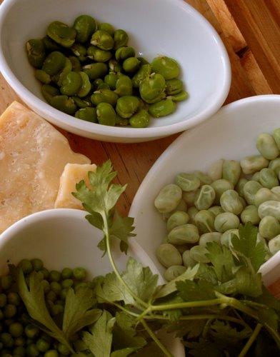 shelled beans, peas & parmiggiano