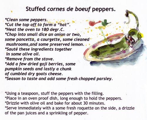 stuffed cornes de boef recipe