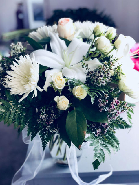 White Lilies & Roses Bouquet