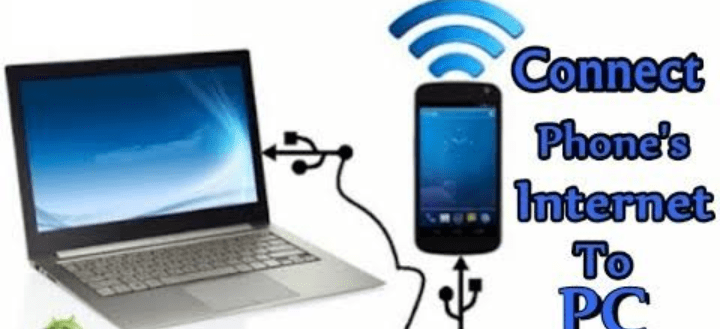 Connect phone to laptop via cable connection