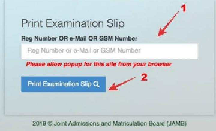 How To Re-Print JAMB 2020 Exam Slip Online