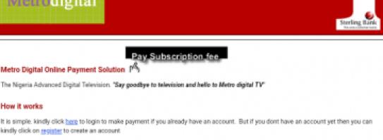 Metro digital online payment solution