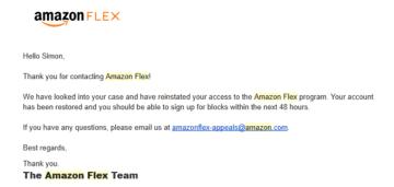 How to activate amazon flex account