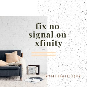 Xfinity weak or no signal
