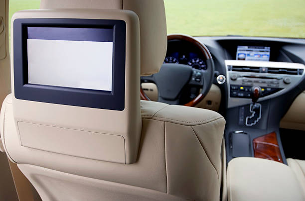 Car TV system after installation with view of the front of the vehicle