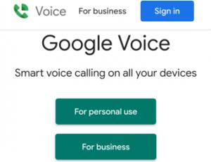Google virtual number