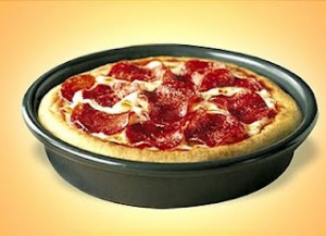 Image result for Pizza Hut personal pan cheese free image well done