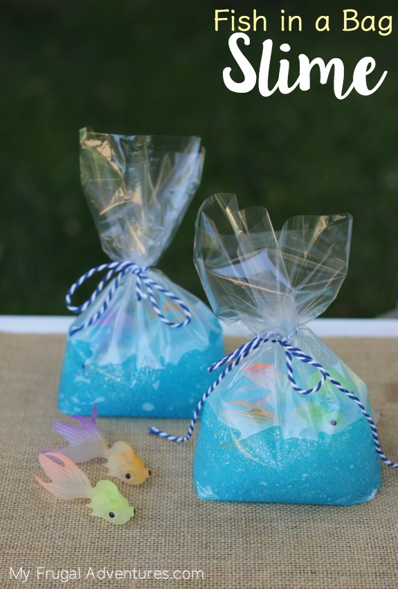 DIY Fish in a bag Slime - Summer Kids Craft Tutorial via My Frugal Adventures