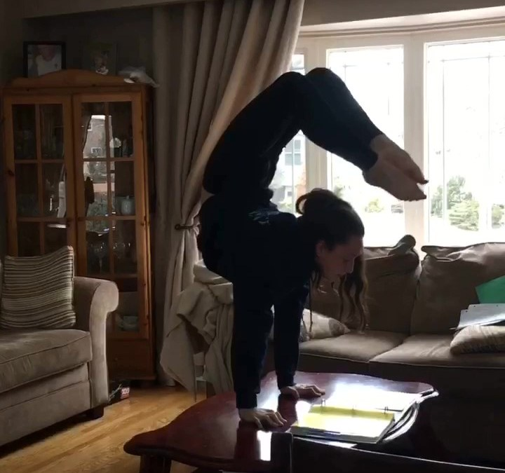 Are You As Dedicated As This Young Gymnast?