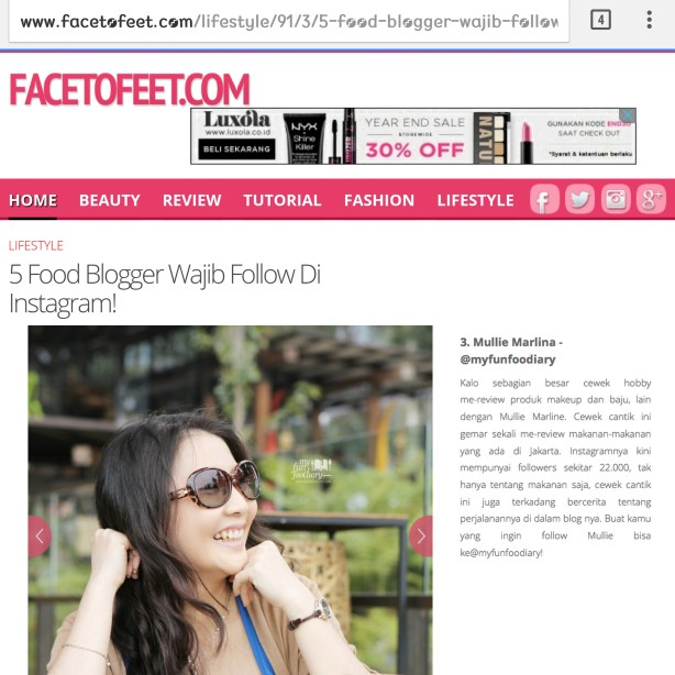 11 Des 2014 featured in Facetofeet dot com