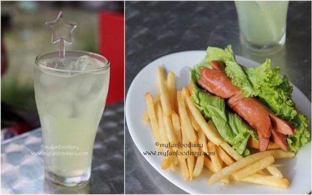 Regular Hotdog + Lemonade