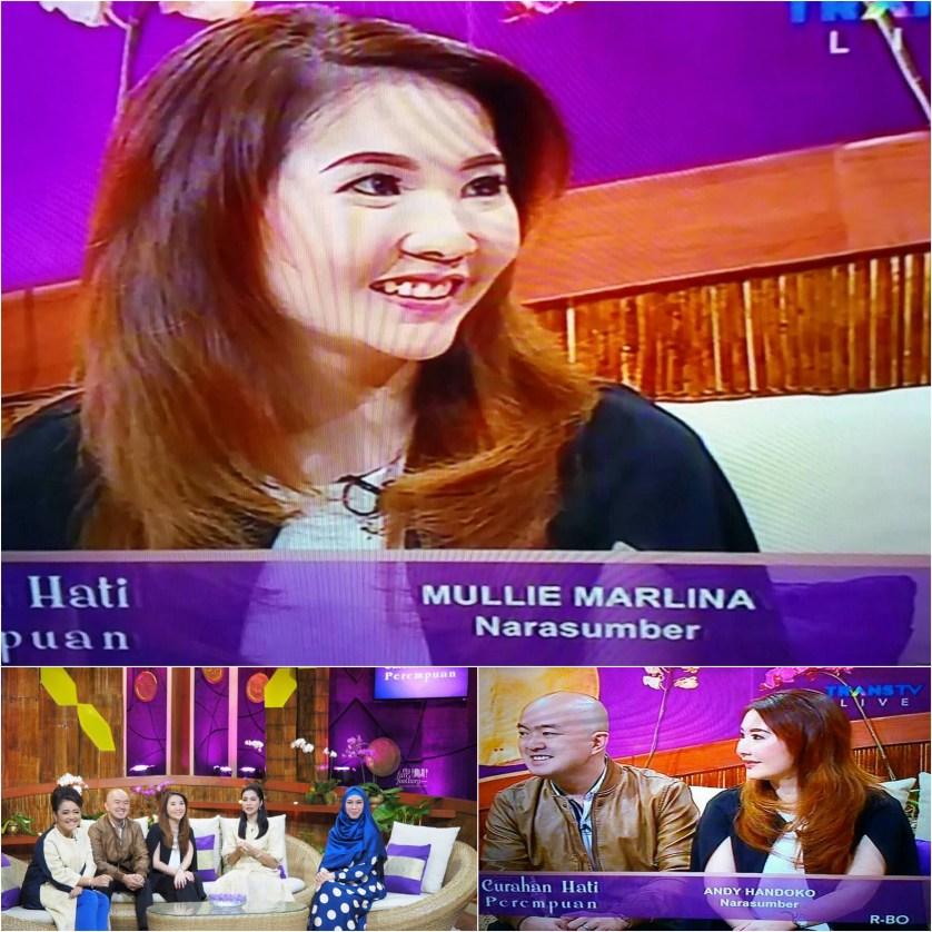 Mullie Marlina live on air on TRANS TV on Feb 25, 2016