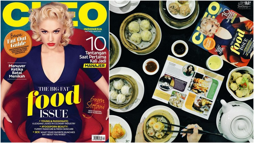 Mullie at Cleo Indonesia April 2016 edition - myfunfoodiary collage with cover
