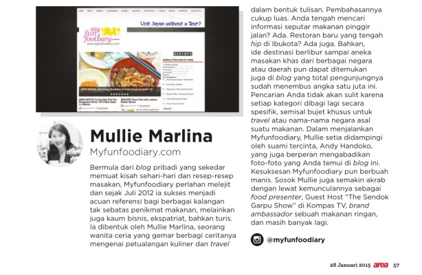 Mullie on Area Magz Edisi 271 tanggal 28 Jan 2015
