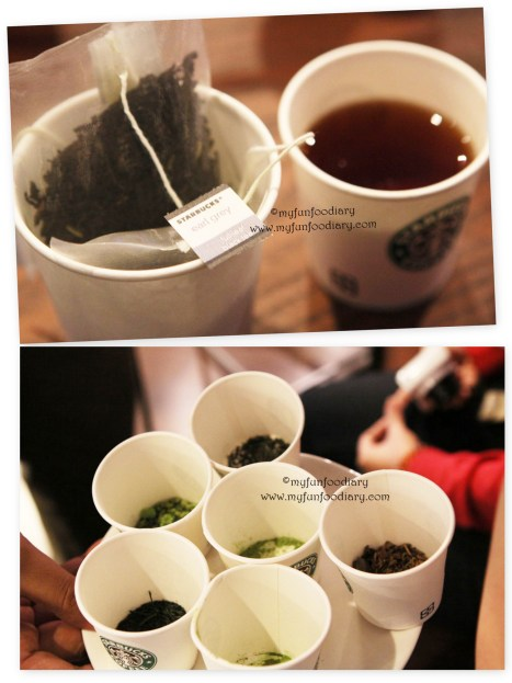 Tea Tasting at Starbucks
