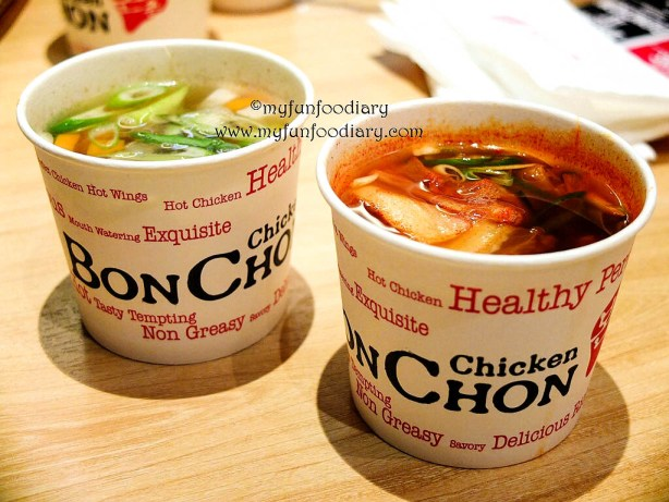 Chicken Soup and Kimchi Soup