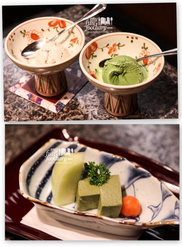 Dessert Green Tea Ice Cream and Pudding