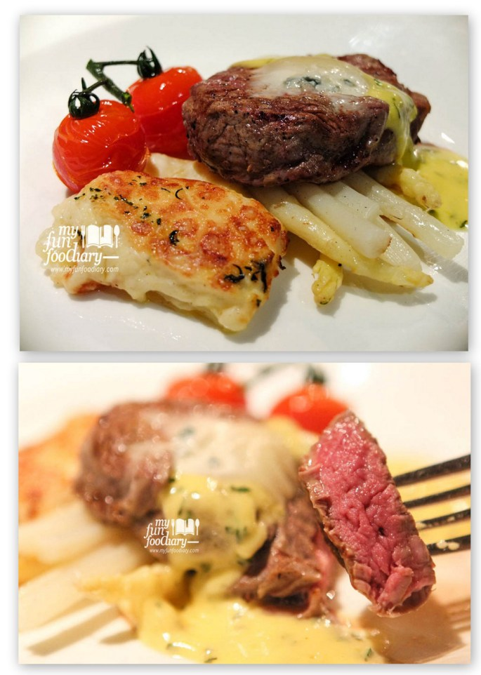 Grilled White Asparagus and Beef Tenderloin