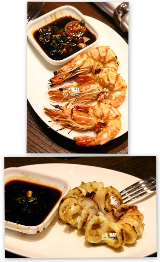 Grilled Squid & Prawn
