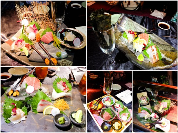5 creations of Sashimi by Enmaru