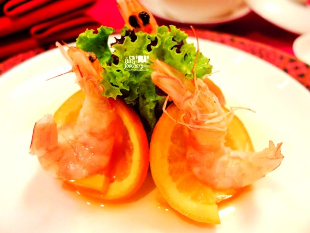 Chilled Fresh Tiger Prawns with Homemade Orange Sauce