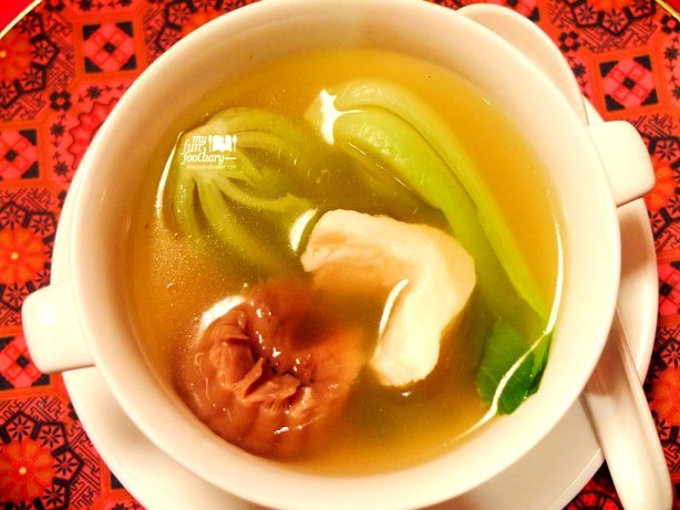 Double Boiled Fish Maw Soup with Black Mushroom