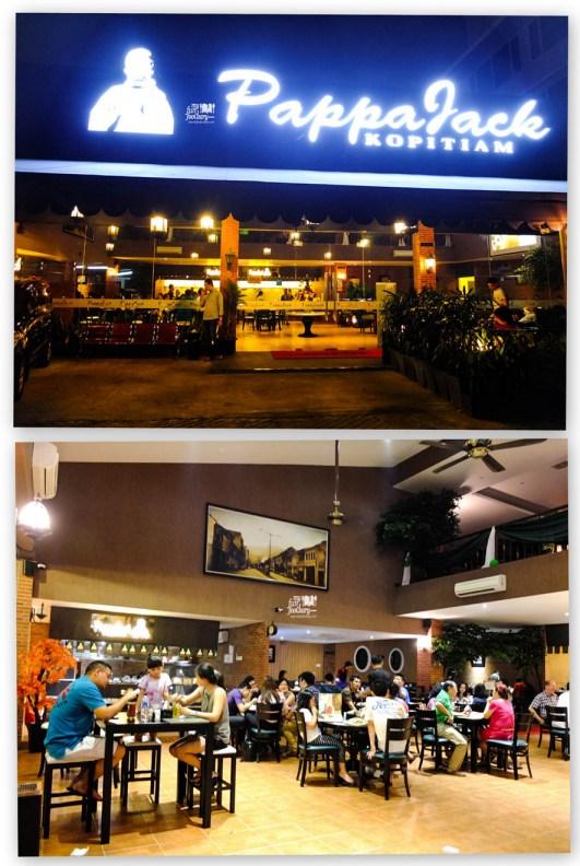 Suasana di restoran Pappa Jack Kopitiam Jakarta Barat