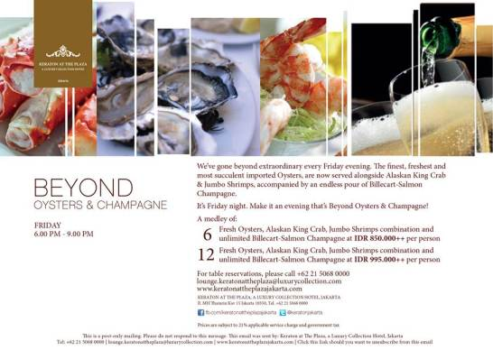 Beyond Oysters & Champagne