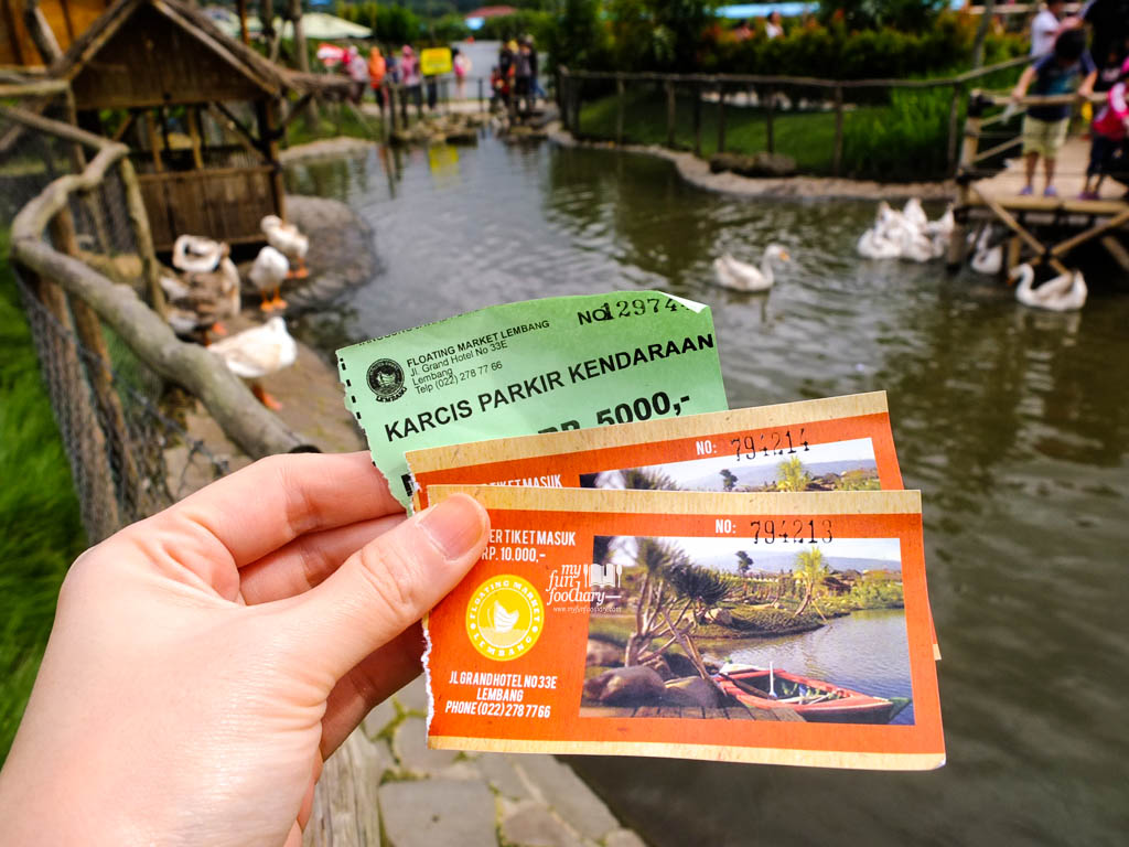 tiket masuk ke floating market lembang myfunfoodiary indonesian food travel lifestyle blog based in jakarta