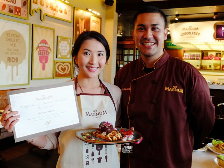 Me and Chef Odie Djamil with my Chocolatier Certificate