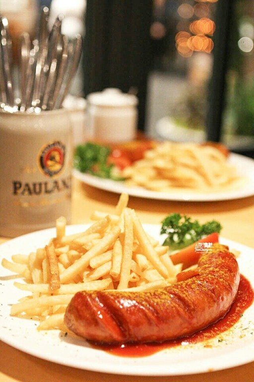Grilled Paulaner Currywurst
