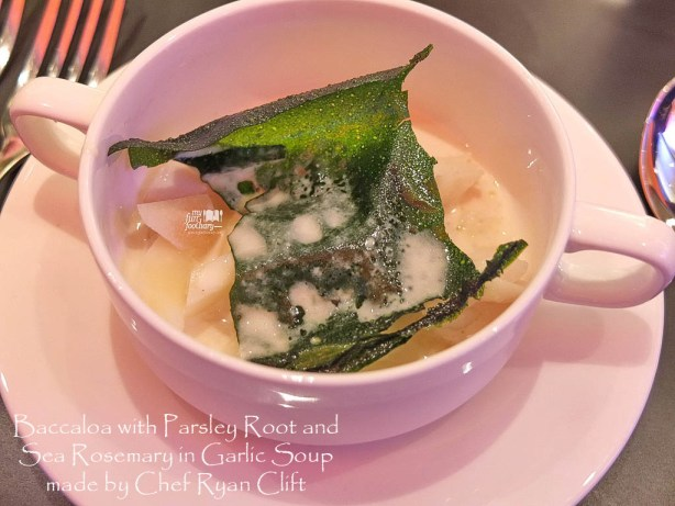Baccaloa Parsley Root Garlic Soup Sea Rosemary at Moovina Plaza Indonesia by Chef Ryan Clift  - by Myfunfoodiary 01