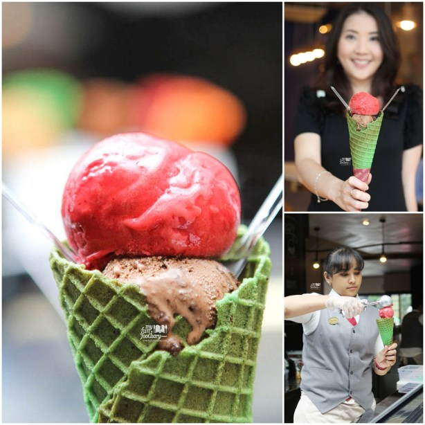 Ice Cream Double Choco & Rapsberry Sorbet