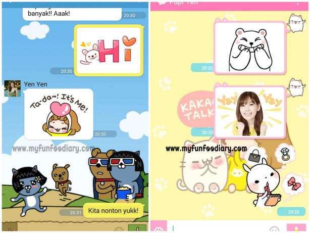 Screen Shot Window Chat Mullie Marlina and Andy Pau Handoko di Kakaotalk